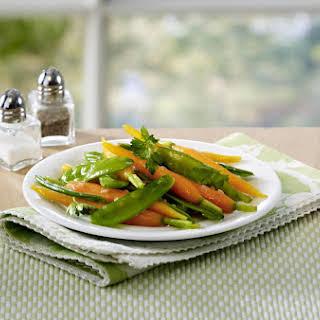 Honey Glazed Carrots and Sugar Snap Peas.