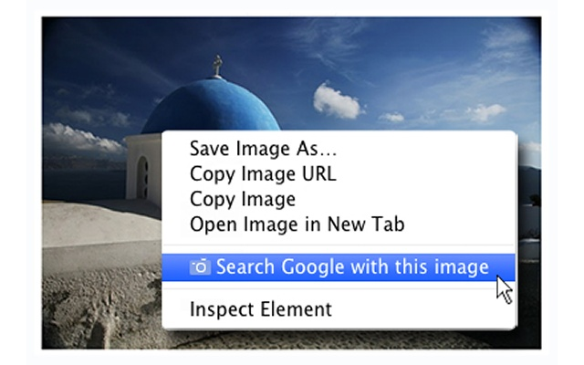 Screenshot of Search by Image for Chrome