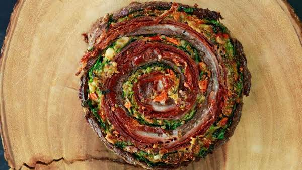 Muffaletta Pinwheel Steaks Recipe