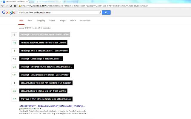 SO Google Enhancer