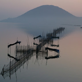 Glory of Dawn by Debashis Mukherjee - Landscapes Waterscapes (  )