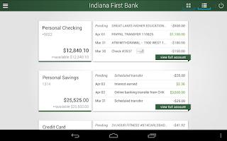 Screenshot of Indiana First Bank
