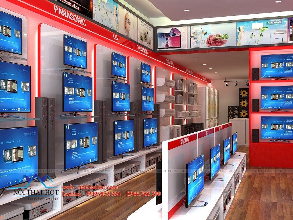 thiết kế nội thất cửa hàng điện máy đẹp mắt