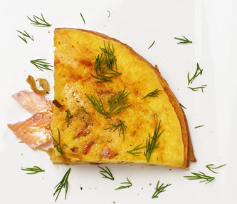 12. Hot-smoked trout frittata