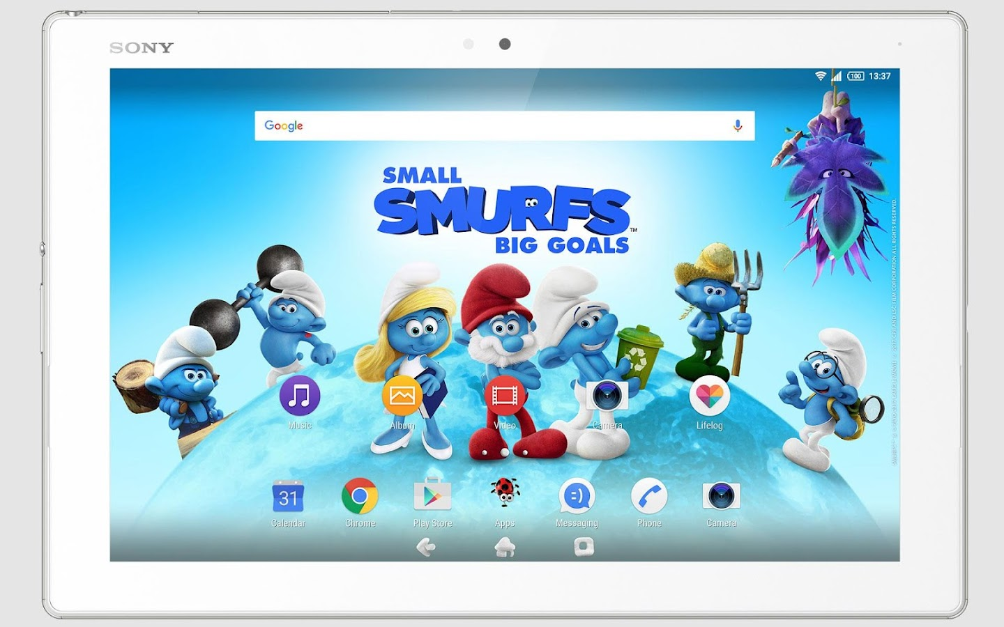 XPERIA™ Team Smurfs™ Theme- screenshot