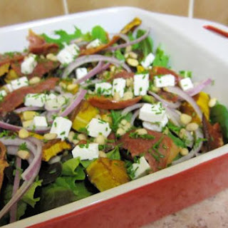 Roasted Pumpkin, Prosciutto and Goat's Cheese Salad