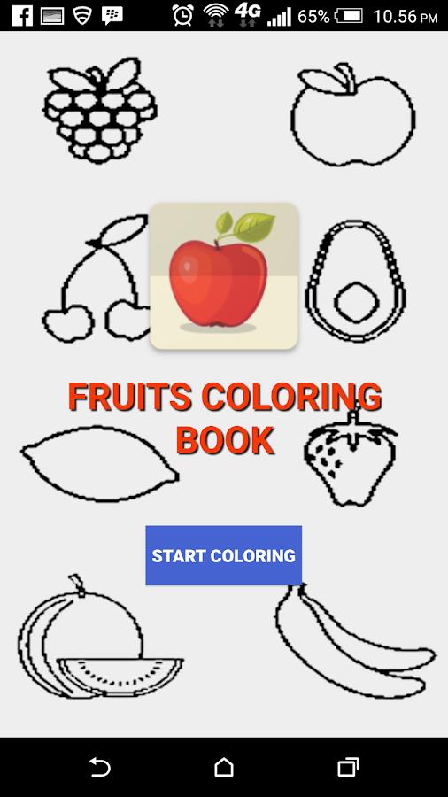 Fruits Coloring Book Screenshot