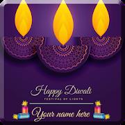 Name On Diwali & Dhanteras Greeting Cards icon