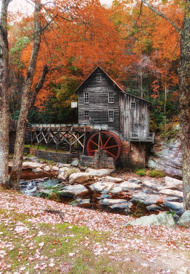 Glade Mill by Dave Walters - Buildings & Architecture Other Exteriors ( w va, glade mill, nature, lumix fz200, babcock state park, colors )