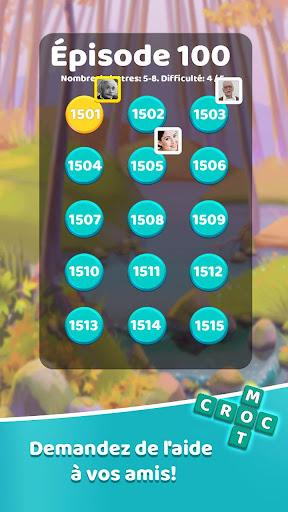 Code Triche Croc Mots: jeu de mots croisu00e9s APK MOD screenshots 2