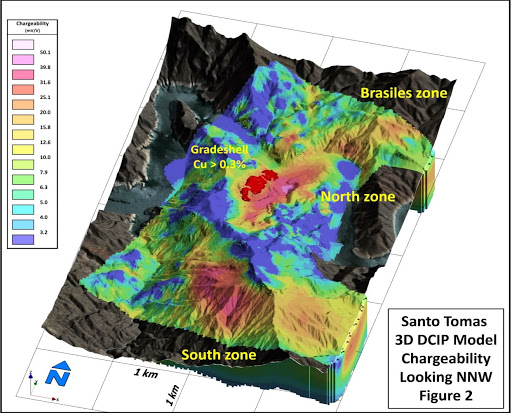 Oroco 3D IP Survey confirms extensive chargeability/resistivity areas: the project is now drill-ready