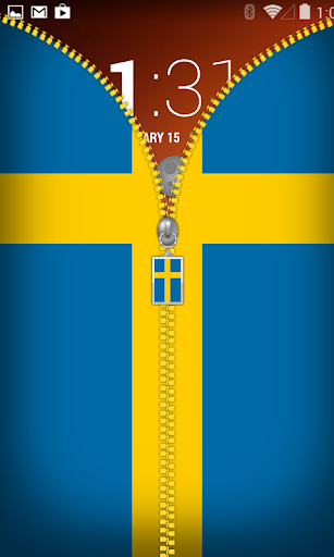 Sweden Flag Zipper Lockscreen