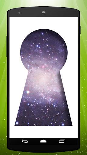 Space Keyhole Live Wallpaper