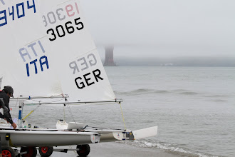 Photo: Sailors from Italy and Germany get ready to launch.