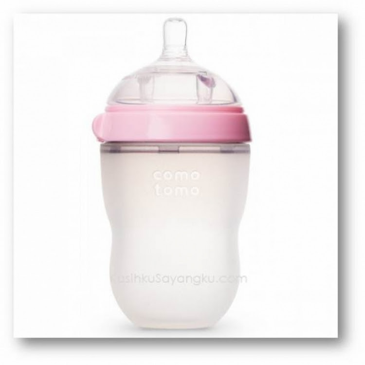 Comotomo Natural-Feel Silicone Baby 8oz Bottle - Pink by GREEN WHEEL INTERNATIONAL SDN BHD