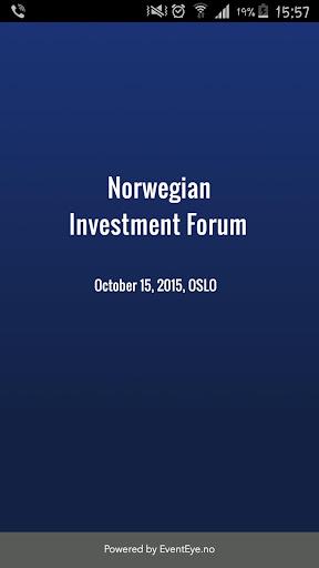 Norwegian Investment Forum2015