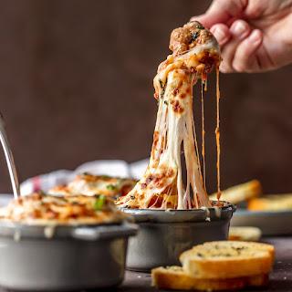 Cheesy Meatball Parmesan Soup.
