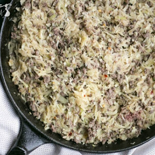 Low Carb Crack Slaw with Beef and Cabbage.