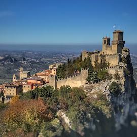 by Mario Horvat - Instagram & Mobile iPhone ( touristic, autumn, san marino, castle, travel, landscape,  )