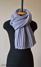 Photo: мужской вязаный шарф