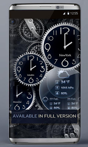FREE Black Clock LiveWallpaper  screenshots 3