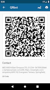 QRbot: QR & barcode reader Screenshot