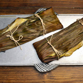 Fish Wrapped in Banana Leaves.