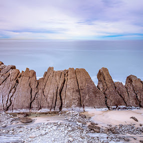 touch the sky by Igor Blindu - Landscapes Waterscapes ( photos, water, mountain, sky, touch, waterscape, colors, roca, lines, beach, sunlight, photography )