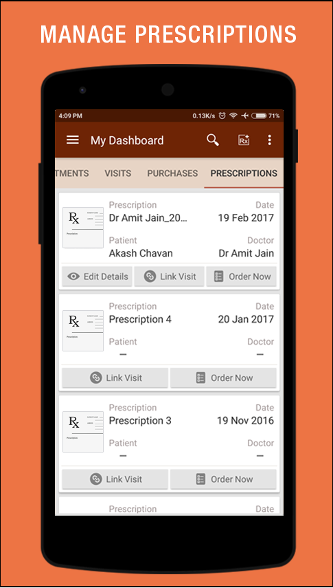 Prescribez for patients - Book appointments- screenshot