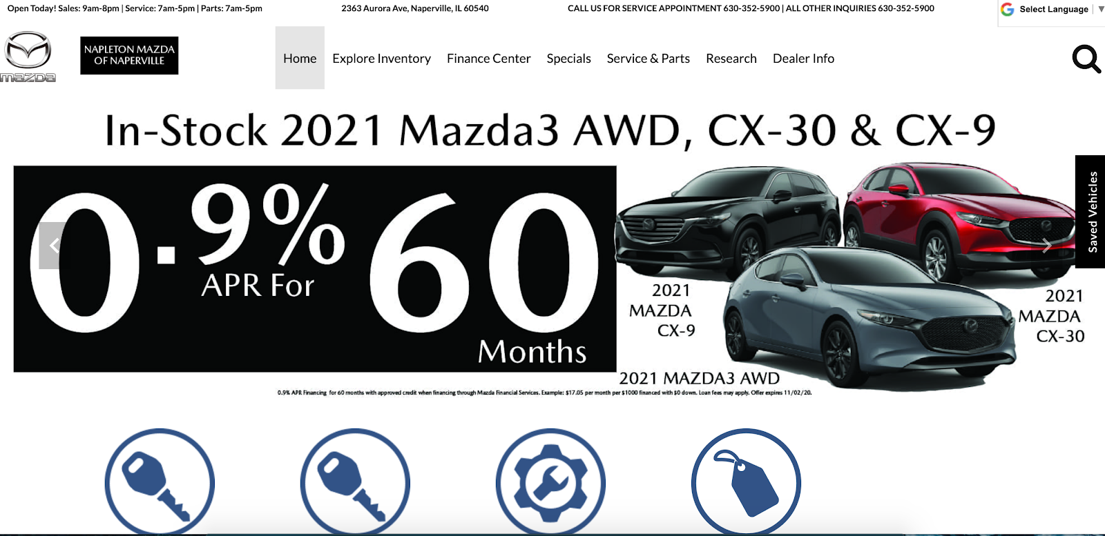 Photo of Continental Mazda of Naperville homepage