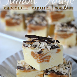 Chocolate, Caramel, Coconut Fudge (aka Samoa Fudge)