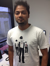 Photo: Vikas shows off his latest Geek shirt