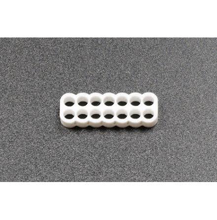 Kabelkam for 14 pins kabel, 2x7 Ø4mm hull, hvit