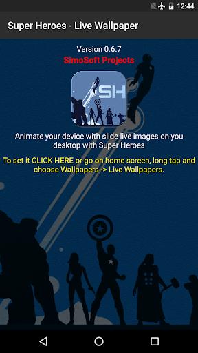 Super Heroes - Live Wallpaper 0.8.0 screenshots 1