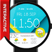 Pure Material Design WatchFace