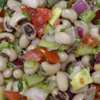 Black-eyed Peas, Cucumber, Tomato, Cilantro Salad