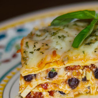 Low Fat Black Bean & Sun Dried Tomato Lasagna