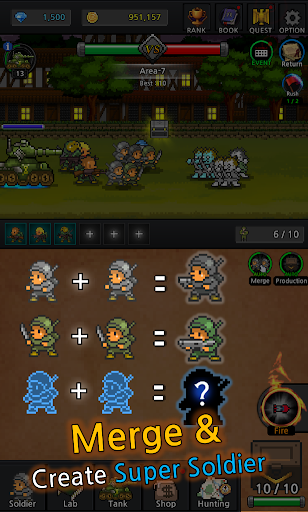 Grow Soldier - Idle Merge game apkdebit screenshots 16