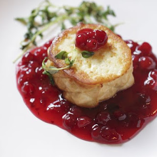 Soft Cheese Medallion with Compote.