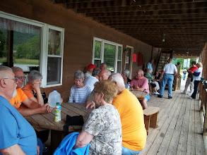 Photo: Snacks on the porch at the general store.