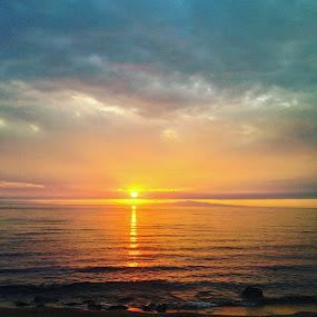 by Эрдэнэцэцэг Баяраа - Landscapes Sunsets & Sunrises ( clouds, sunset, summer, lake, travel,  )
