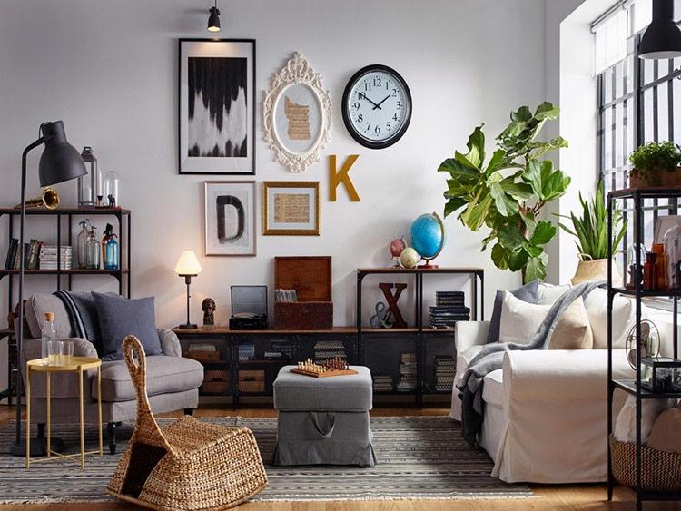 Tận dụng bức tường để trang trí cho căn hộ
