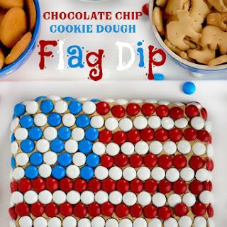 Chocolate Chip Cookie Dough Flag Dip