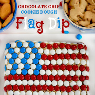 Chocolate Chip Cookie Dough Flag Dip.