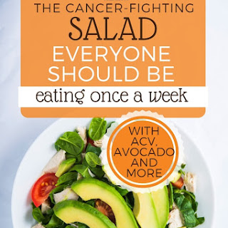 Super Anti-Cancer Spinach and Avocado Salad.