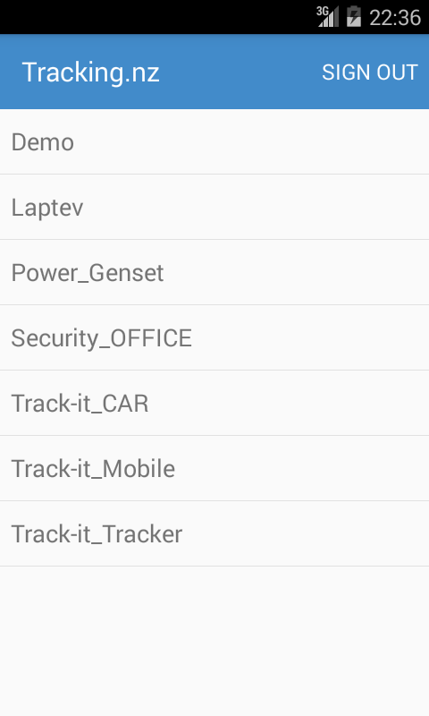 Tracking.nz Vehicle Tracking- screenshot