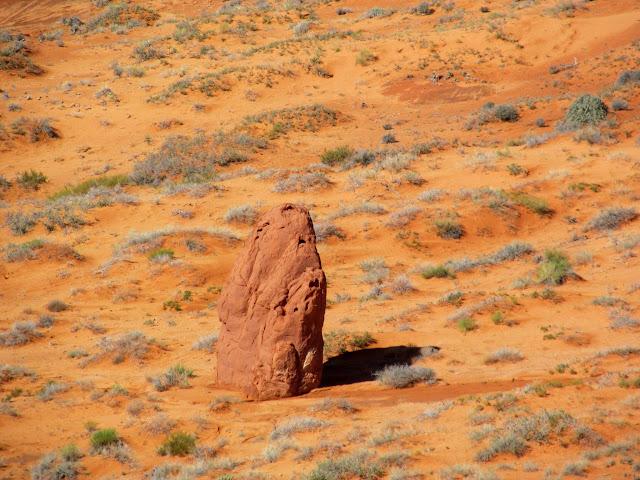 Large, solitary Entrada Sandstone boulder