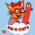 Kid-e-Cats Skateboard Racing Rush. Kids games icon