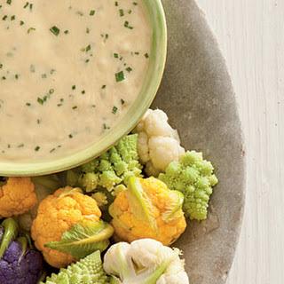Beer-Cheese Fondue with Baby Cauliflower