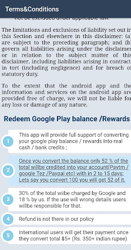 Convert Rewards(Redeem Google Rewards ) App Report on Mobile Action